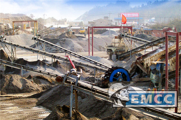 Limestone Sand Making Production Line Site